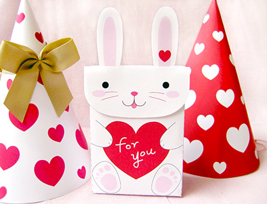 """Упаковочная коробочка своими руками из бумаги """"Веселый зайчик"""". Схема"""