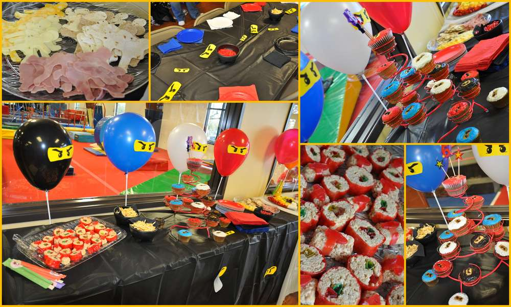 Идеи новогоднего стола для детской ниндзя вечеринки