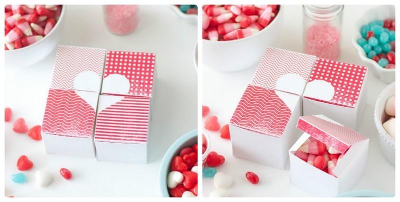Подарочная коробочка с крышкой своими руками: сердце из четырех частей