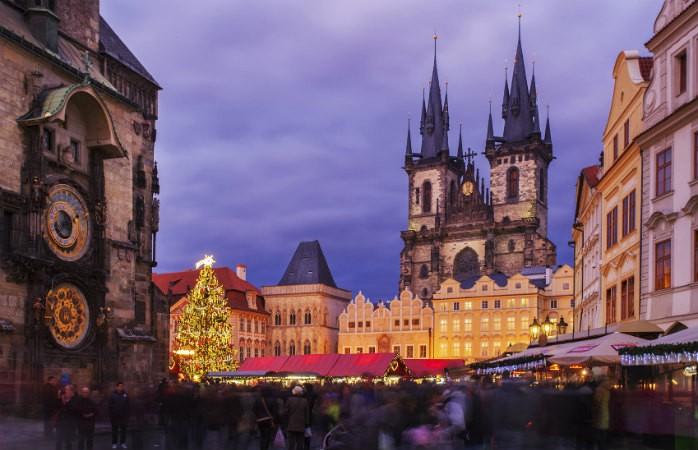 Рождественская ярмарка на главной площади города