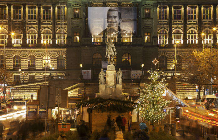 Рождественская ярмарка на Вацлавской площади