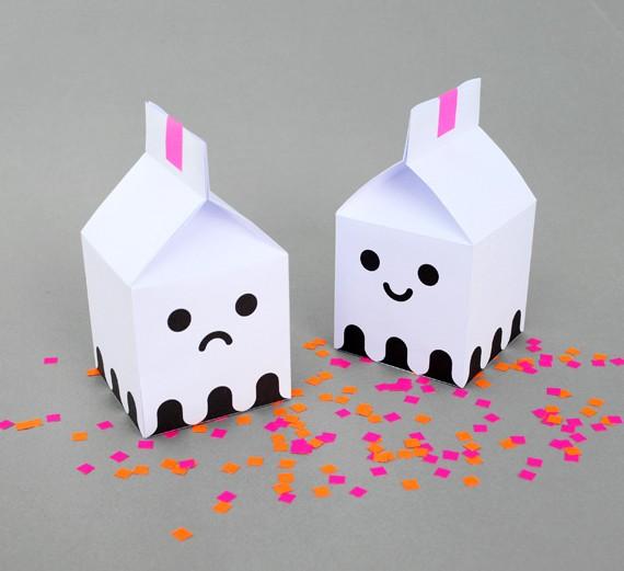 Коробочка из бумаги своими руками с рожицей. Схема
