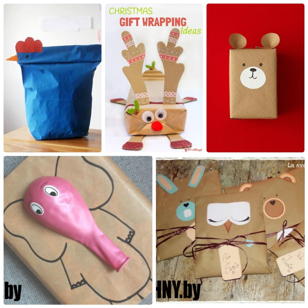 Новогодняя упаковка в виде животных своими руками