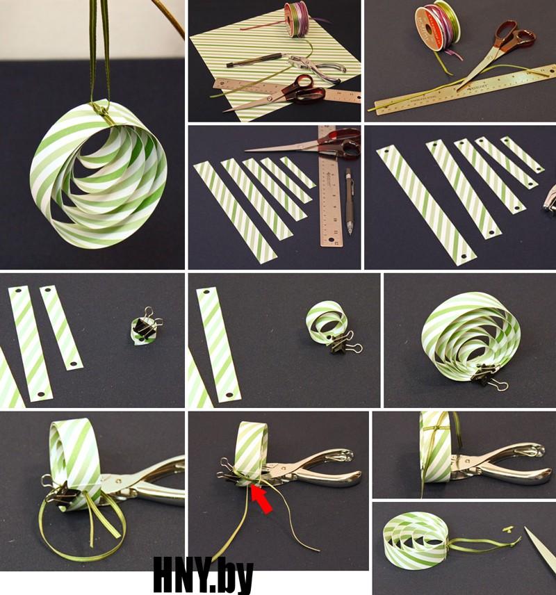 Украшаем новогоднюю елку своими руками: схема изготовления елочной игрушки из бумаги
