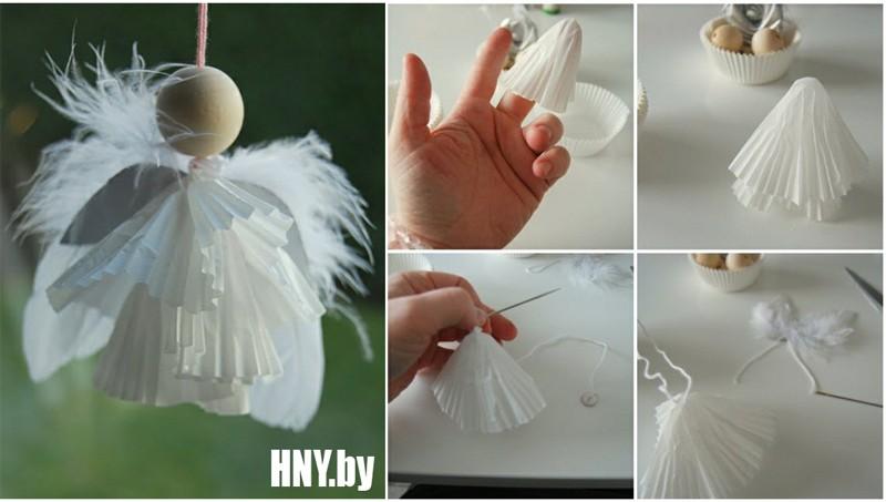 Мини ангелочек: делаем новогодние поделки из бумаги своими руками