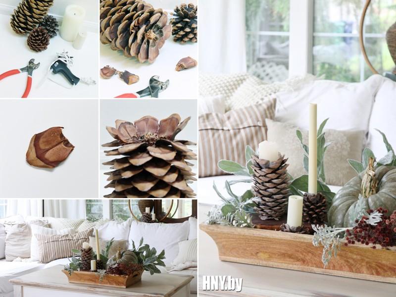 Новогодние свечи своими руками: декорируем интерьер свечами с шишками