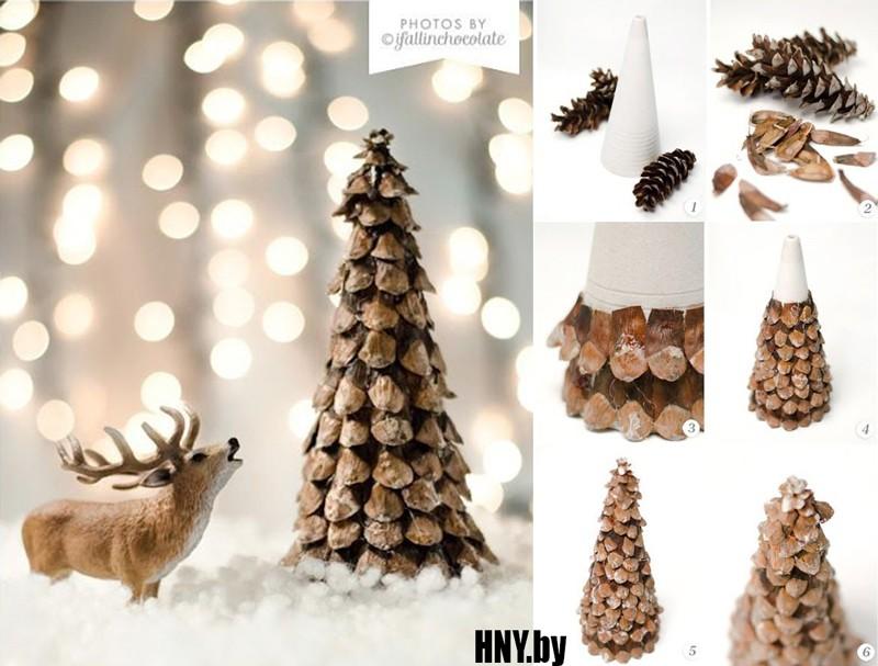 Делаем новогоднюю елку своими руками: пошаговый мастер класс поделки из шишек