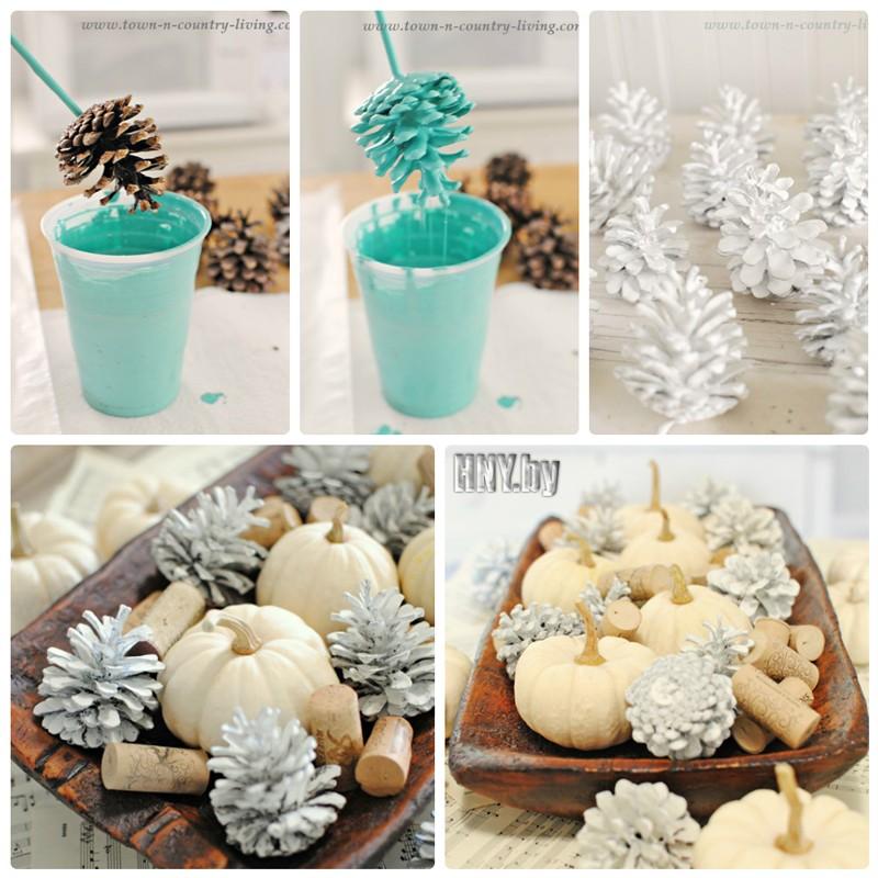 Новогодние поделки из шишек своими руками: декорируем интерьер самостоятельно