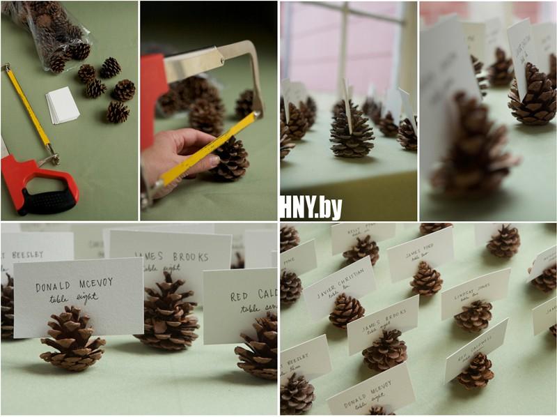 Декорируем новогодний стол с помощью шишек: поделки своими руками