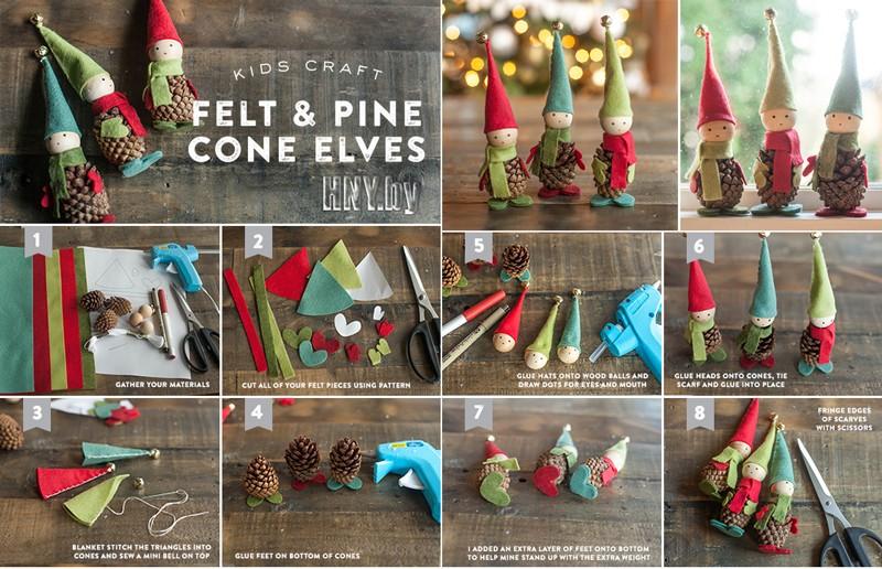 Новогодние поделки из шишек Эльфы: готовимся к Новому году вместе с детьми