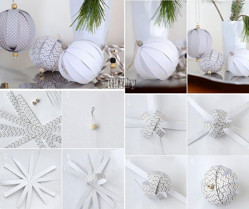 Новогодние игрушки из бумаги: делаем бумажные поделки на елку своими руками