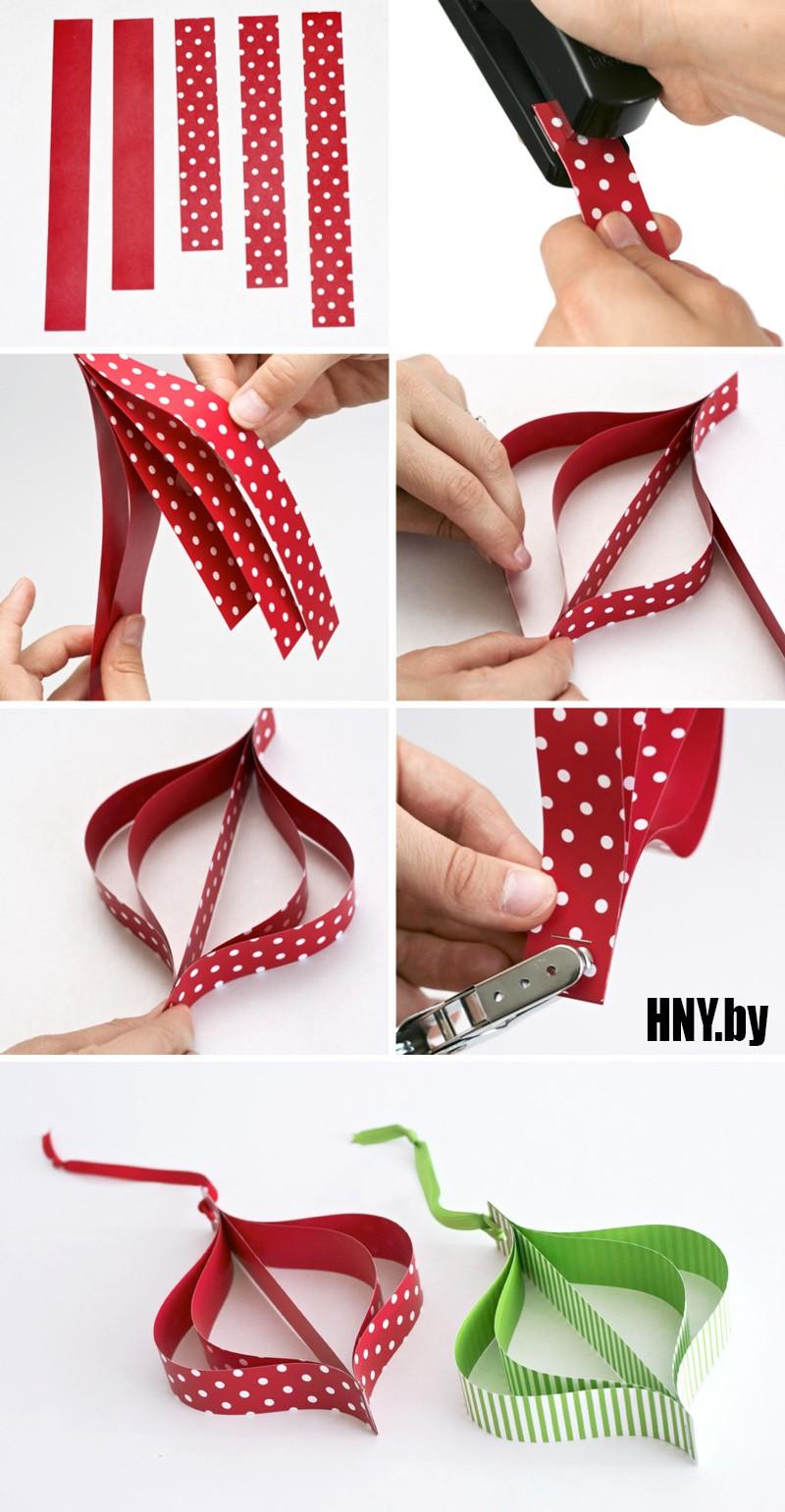 Продолжаем украшать новогоднюю елку: делаем поделки из бумаги на Новый год своими руками