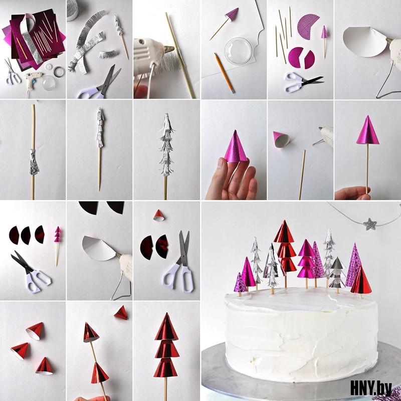 Новогодние поделки из бумаги для декорирования новогоднего стола
