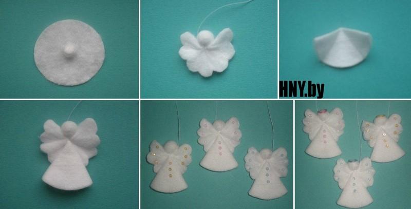 Поделки из ватных дисков своими руками к новому году: мк по изготовлению ангелочков