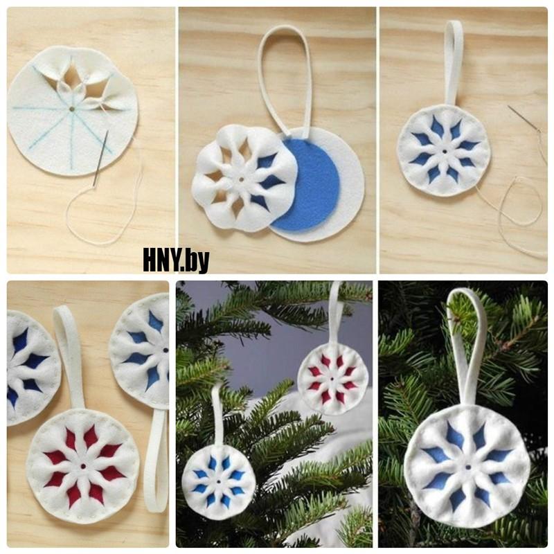 Новогодние поделки из ватных дисков: делаем объемные снежинки своими руками