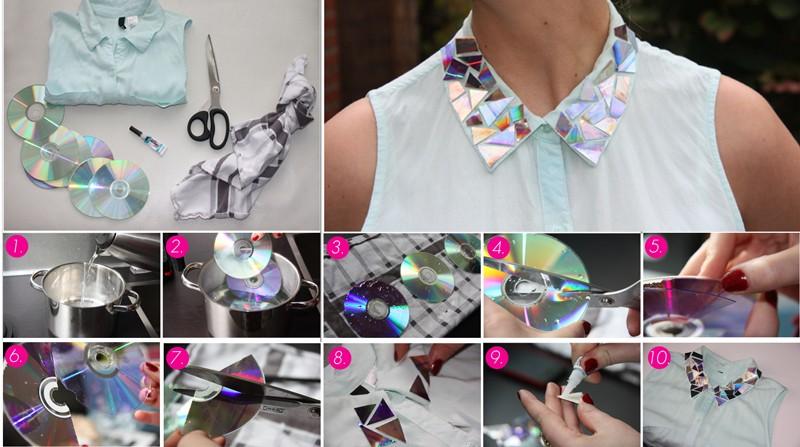 Поделки из дисков к новому году: создаем уникальный неповторимый декор одежды