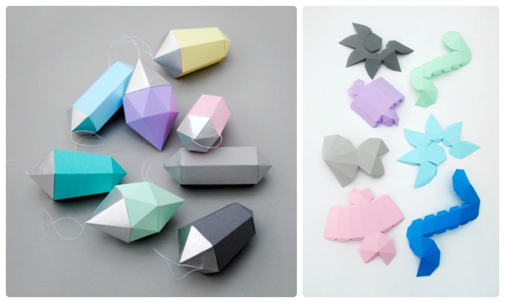 новогодние поделки из бумаги: украшаем дом алмазными кристаллами