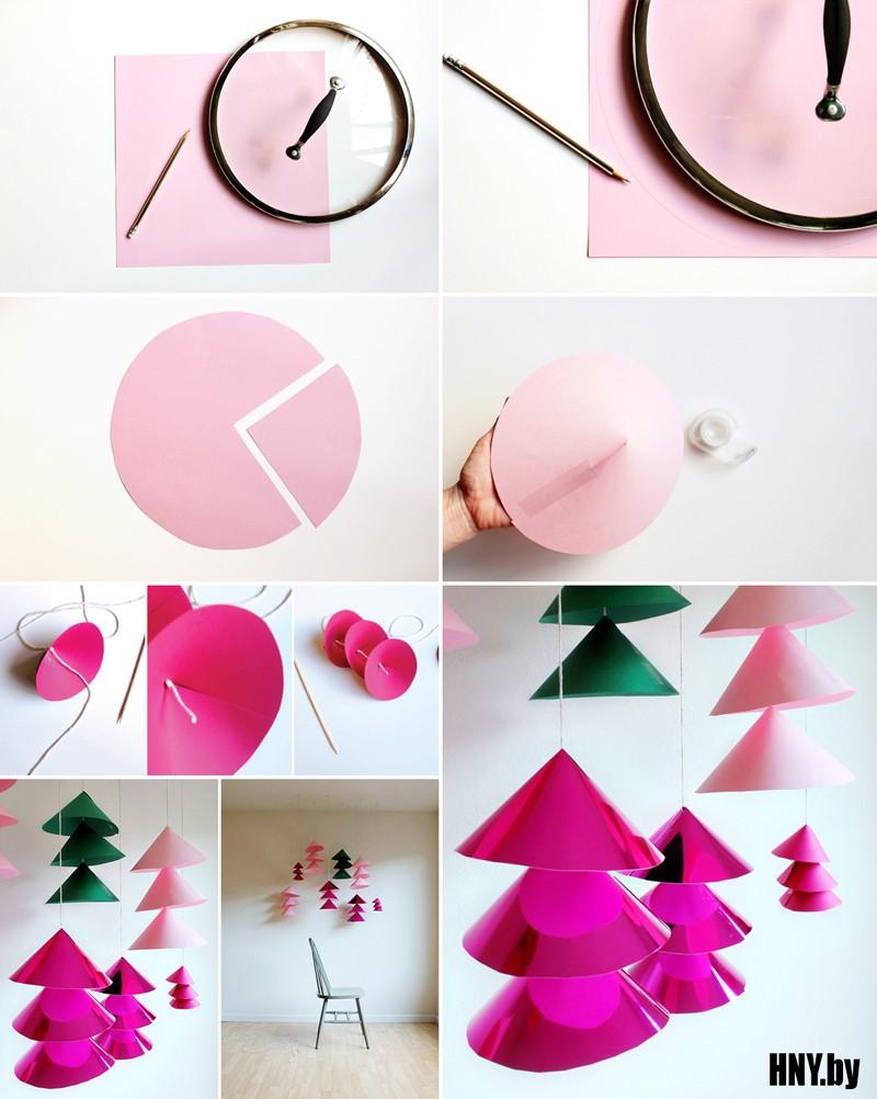 Поделки из бумаги к Новому году: делаем большую елочную гирлянду