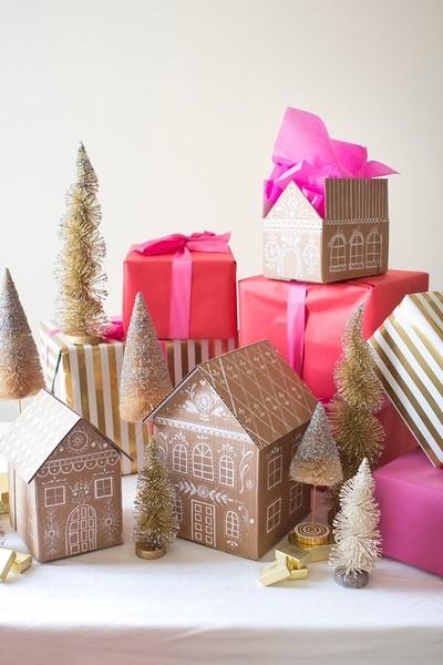 gingerbread-house-tutorial Как упаковать подарок - В подарочную бумагу своими руками