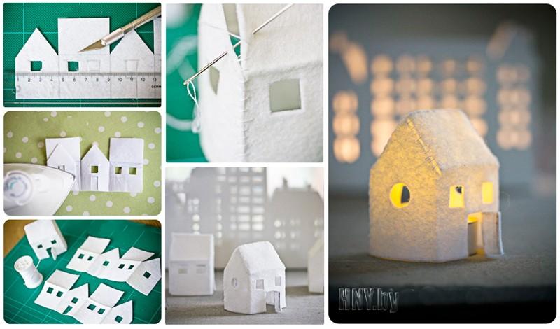 Новогодний домик своими руками: делаем домик деда Мороза их фетра