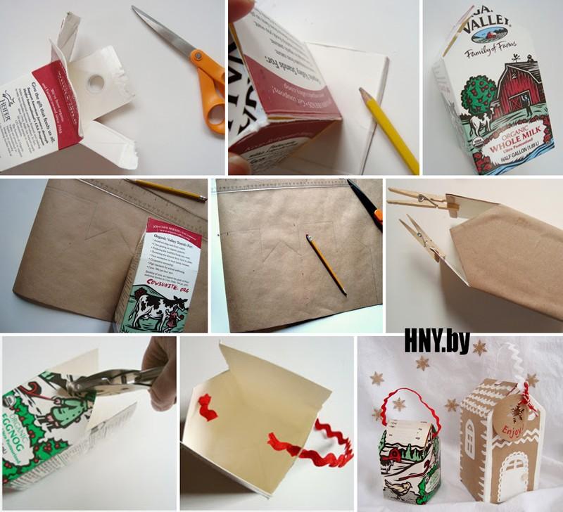 Домик своими руками из упаковки из-под молока: как сделать новогодний домик своими руками