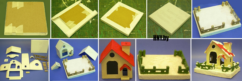 Как сделать домик из картона своими руками: готовая схема для вырезания