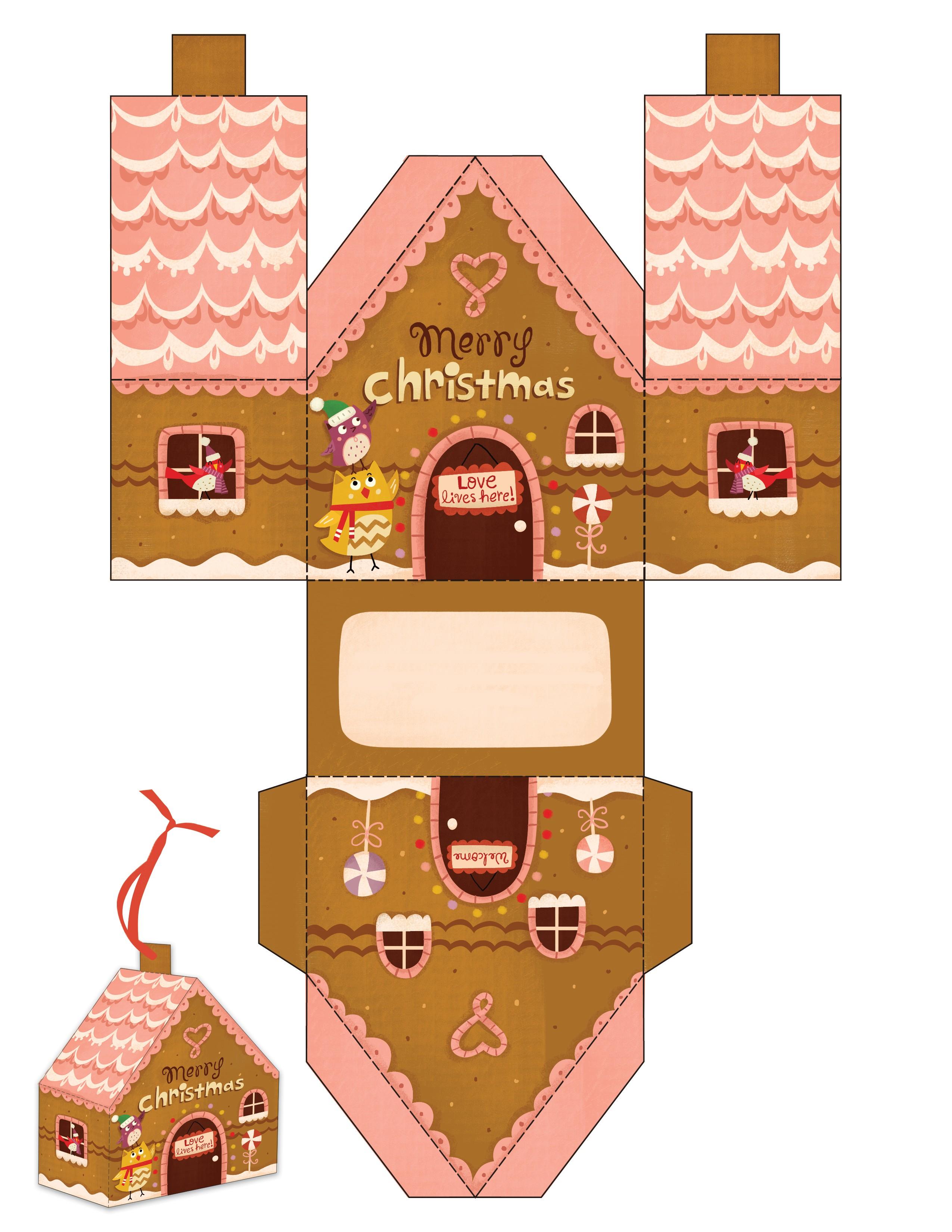 Распечатать поделки домики