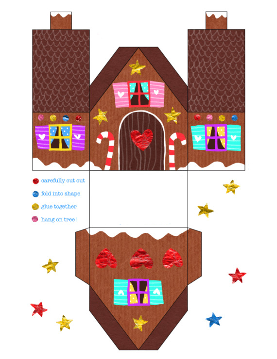Как сделать из бумаги пряничный домик