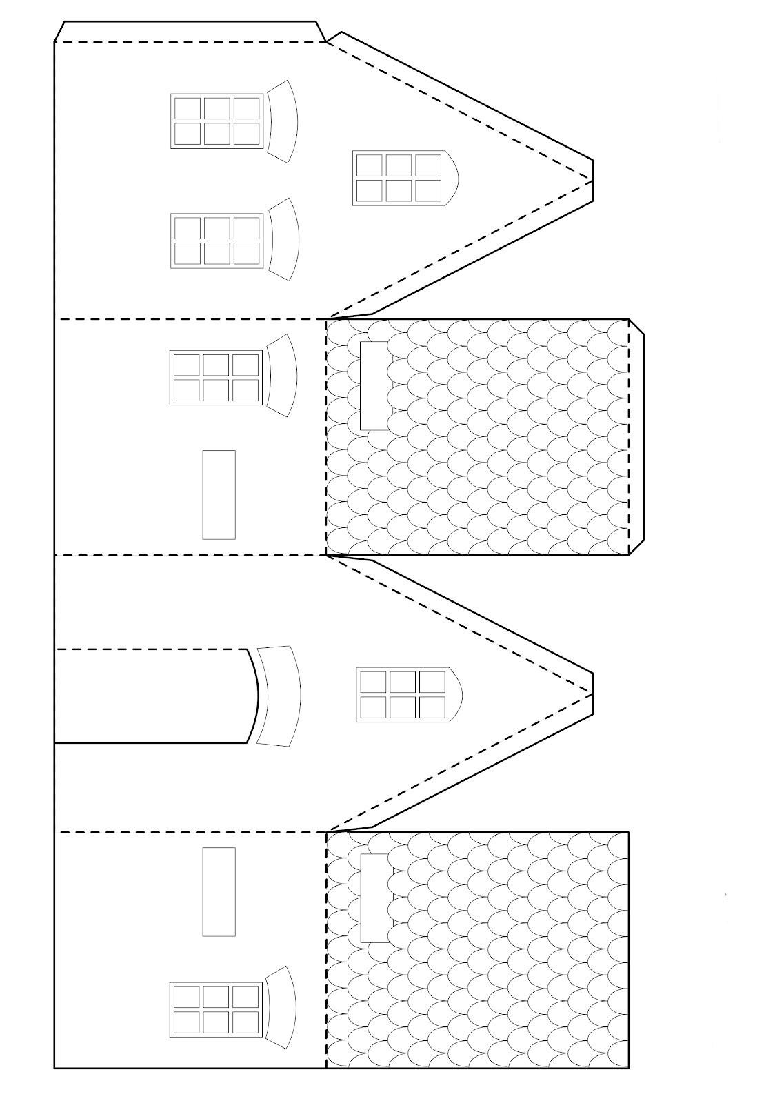 Поделка домик своими руками: из картона схема для детей, как.