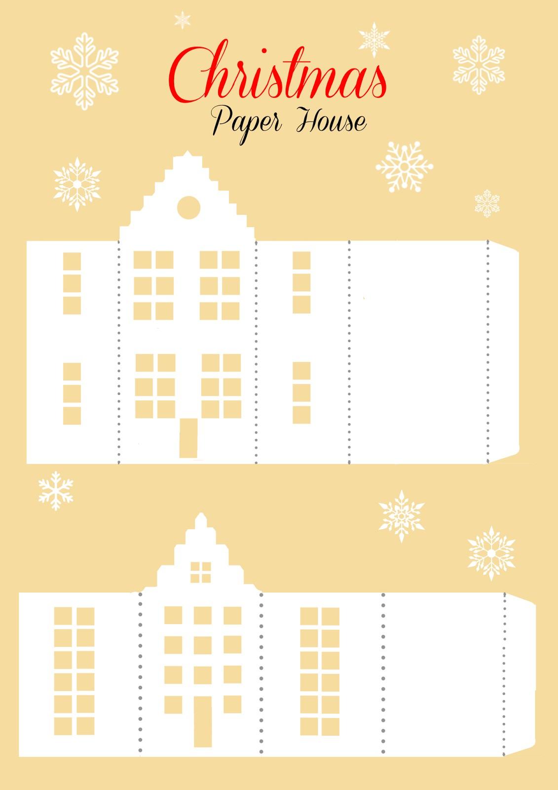 Домики новогодние своими руками из картона фото 414