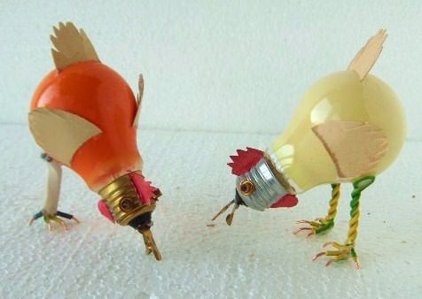 Поделки из старых лампочек на Новый год
