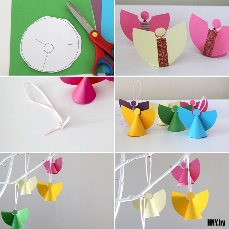 Милые ангелочки своими руками: делаем поделки из бумаги на Новый год