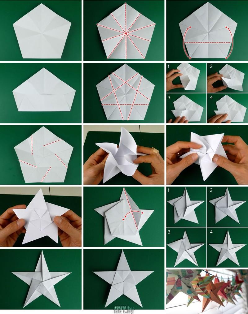 Поделка из бумаги оригами звезда своими руками