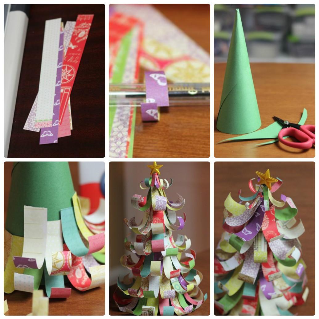 Поделки из бумаги на Новый год: делаем новогоднюю елочку своими руками