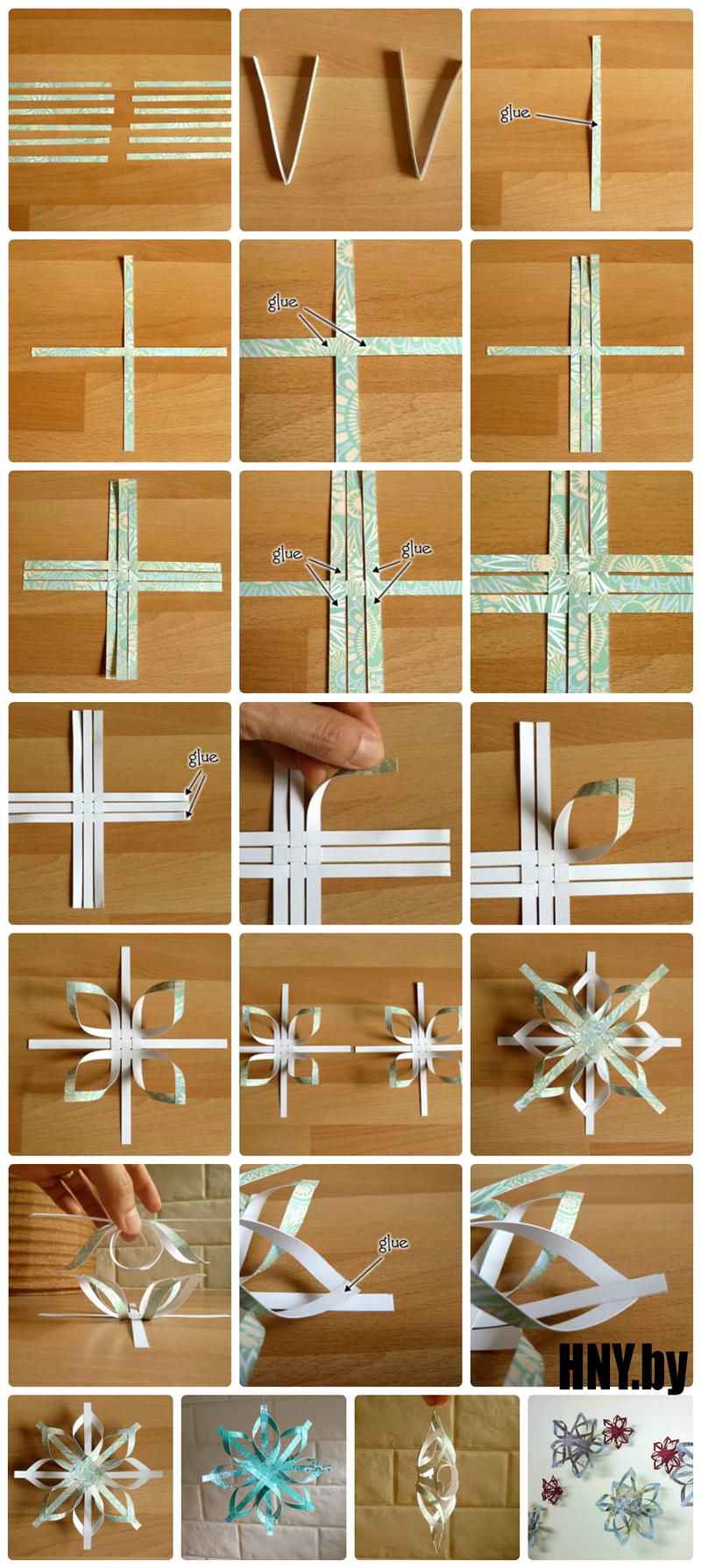 Как сделать объемную снежинку: делаем новогодние поделки из бумаги своими руками
