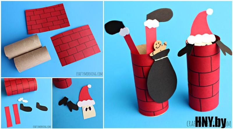 #2 Санта в трубе: украшаем елку своими руками