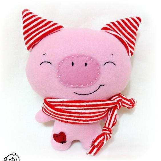 Елочные игрушки из фетра своими руками: свинка