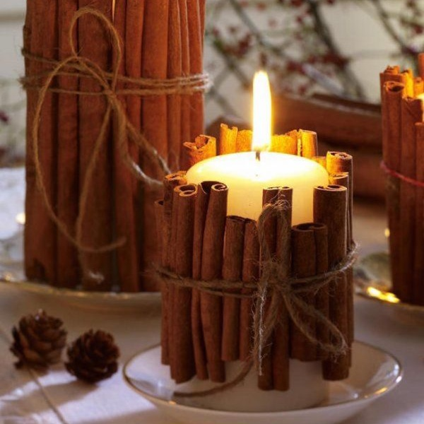 Новогодние свечи: декорируем квартиру своими руками