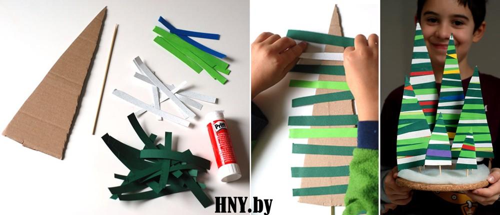 Елка из бумаги для Нового года: делаем новогодние поделки с детьми