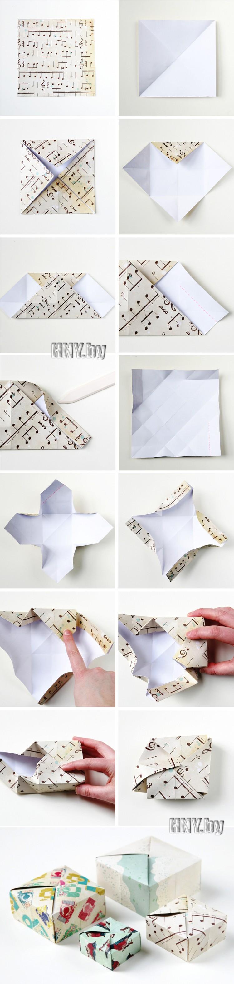 Еще одна коробочка в технике оригами
