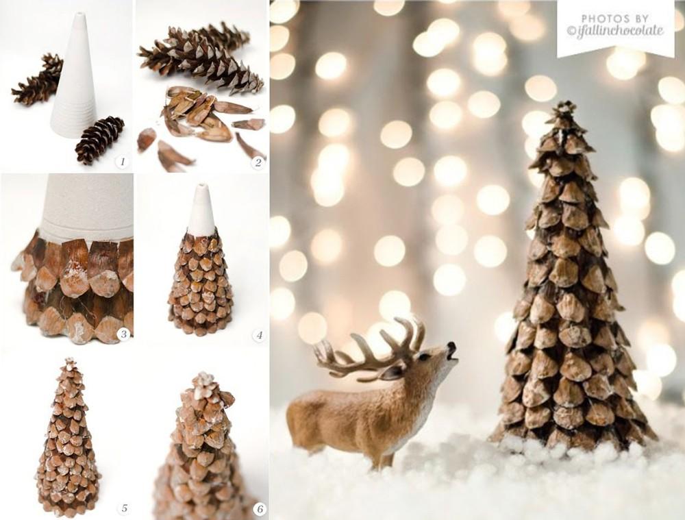 Новогодняя елка из шишки