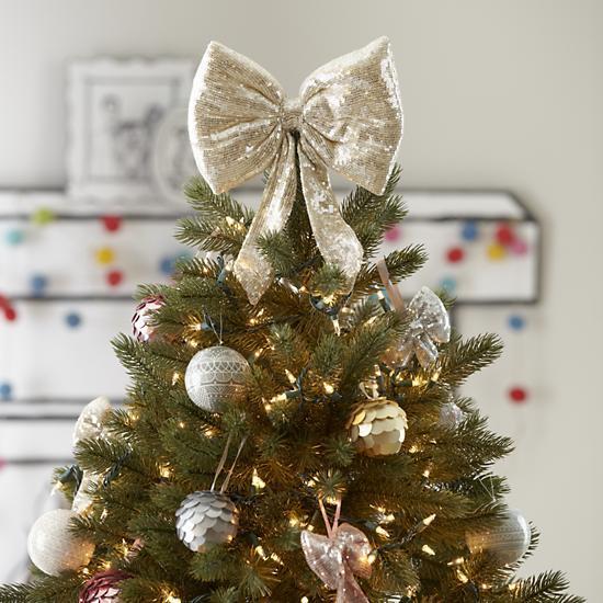 Бант на новогоднюю елку
