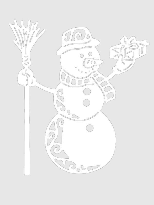 картинки снежинки дом снеговик для окон вырезать школах франции есть