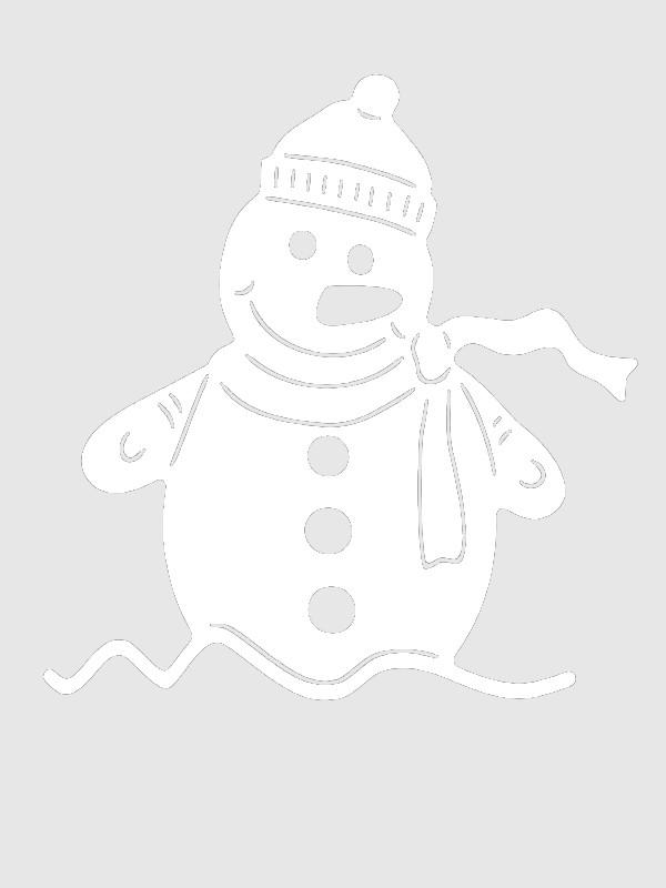 картинки снежинки дом снеговик для окон вырезать будни требуют быстрых