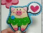 Фетровая свинка