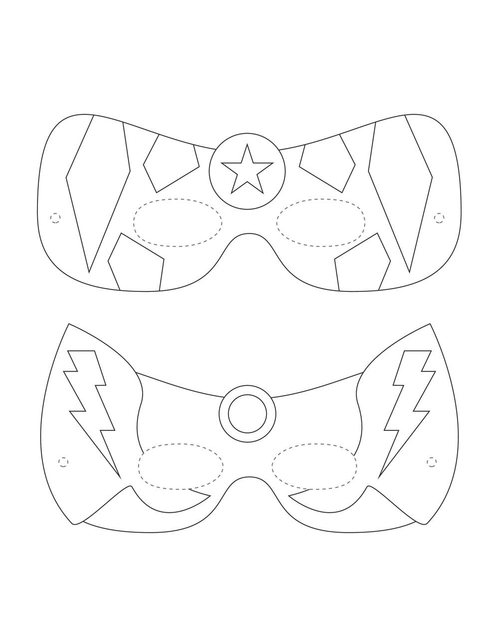 Superhero mask template golfclub superhero mask template maxwellsz