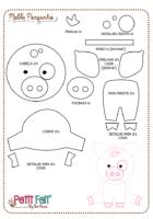 Схема свинки из фетра