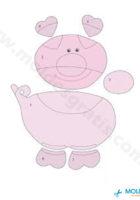Шаблон Свинки из фетра