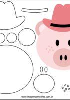 Свинья в шляпе, шаблон