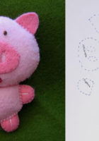 Шаблон фетровой свинки